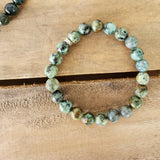 8mm African turquoise agate beads bracelet