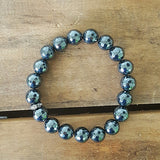 Protection Bracelet by Marinella 10mm grey hematite faceted