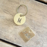 brass tags handstamped vintage stampers custom words numbers round or square