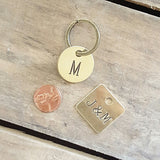 brass tags handstamped vintage stampers custom words numbers round or square penny