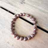 8mm rose' lava gemstone beads quality stretch bracelet
