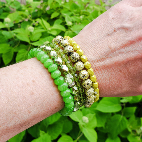 lime green color quality stretch bracelets