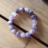 protection stone bracelet matte agate smooth 12mm quality stretch
