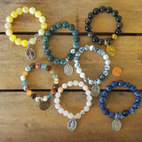 protection bracelets by Marinella prayer beads and saint medal collection