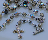 Smoke rosary with crucifix and 2014 charm