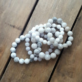 protection bracelets in variety of white agate jade howlite stone whites collection