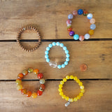 protection bracelets by Marinella jewelry tropical stack of 5 bracelets