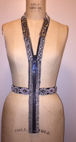 Evening Wear Beaded adjustable Zipper