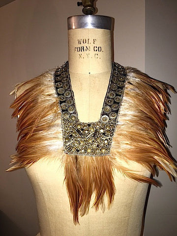 Feather and Medal Bib