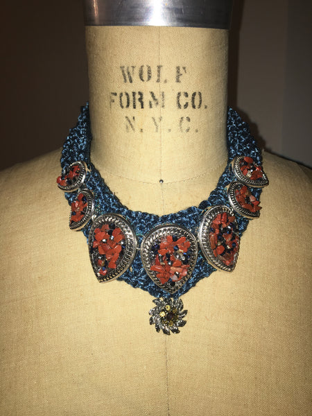 Crochet Crused Beaded Necklace