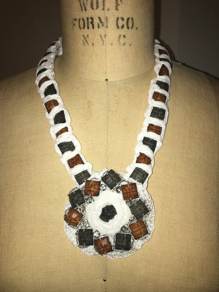White African Squared Necklace