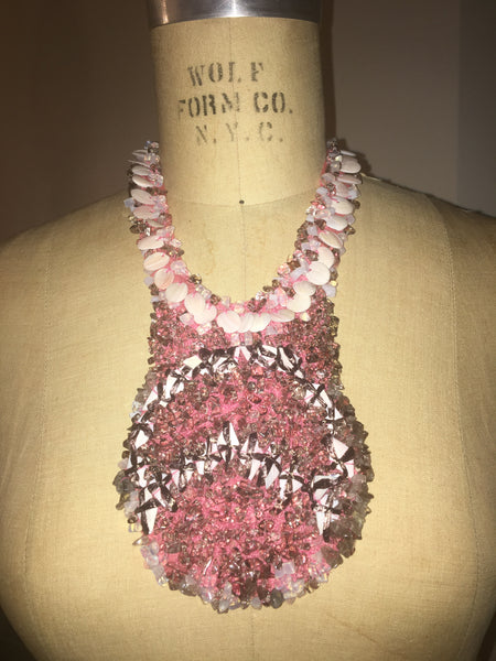 Pink Passion Shell Beaded Necklace