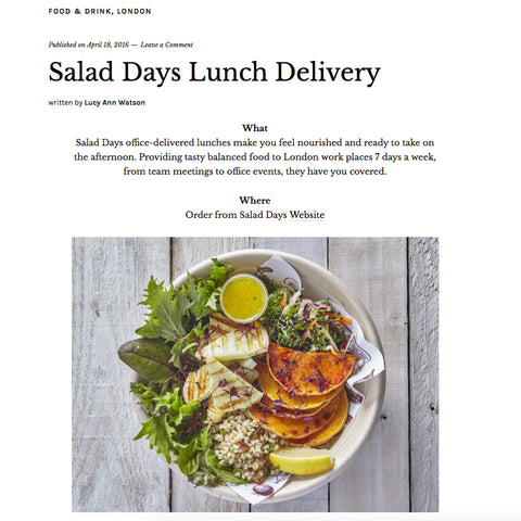 London food delivery press and reviews salad days working girl london forumfinder Gallery
