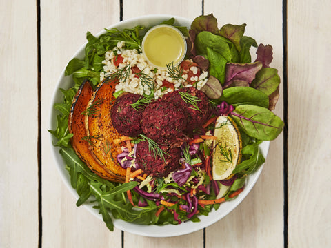 Beetroot Fritter Salad Box | Salad Days Online