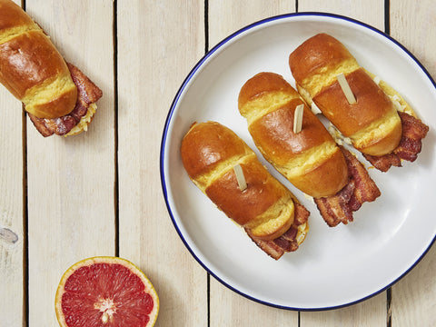 10 Breakfast Brioche Buns with Smoked Bacon - Salad Days