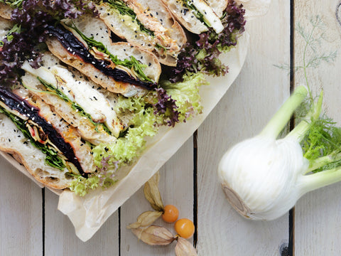 Focaccia Sandwich Platter - Salad Days Delivery