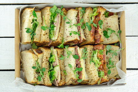 Meaty Doorstep Sandwich Platter - Salad Days Delivery