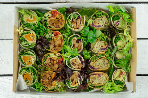 Vegan Wrap Selection Platter - Salad Days Delivery
