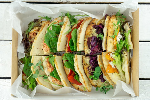 Stuffed Flatbread Platter - Salad Days Delivery