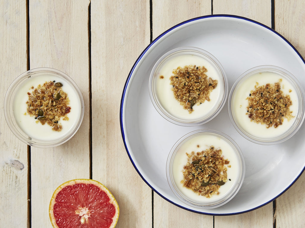 Yoghurt Pots with Homemade Granola | Salad Days Online