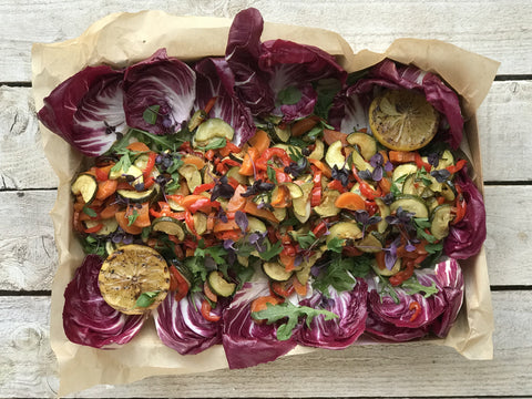 Vegan Balsamic Roasted Vegetables Individual Platter | Salad Days Online