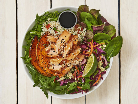 Salmon Teriyaki Salad Box | Salad Days Online