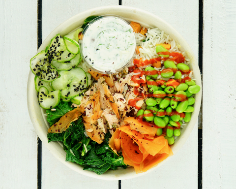 Chargrilled Salmon Rice Bowl - Salad Days