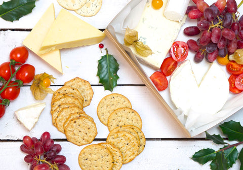 Artisan Cheeses With Grapes & Crackers - Salad Days Delivery