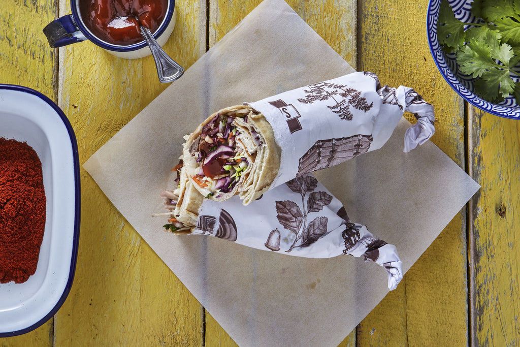 BBQ Pulled Pork Wrap - Salad Days Delivery  - 1