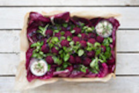 Beetroot Fritter Individual Platter - Salad Days Delivery