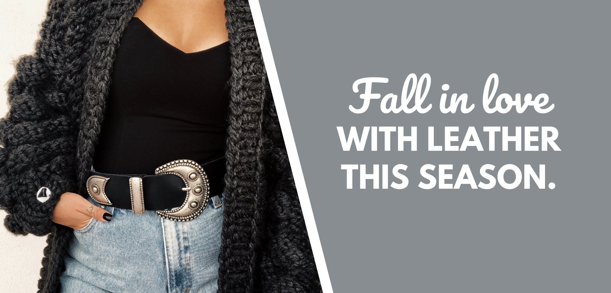 Fall in love with leather this season.