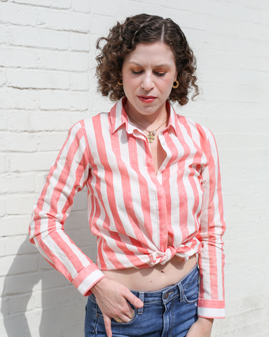 LILA Fashion | Pink Stripe Shirt