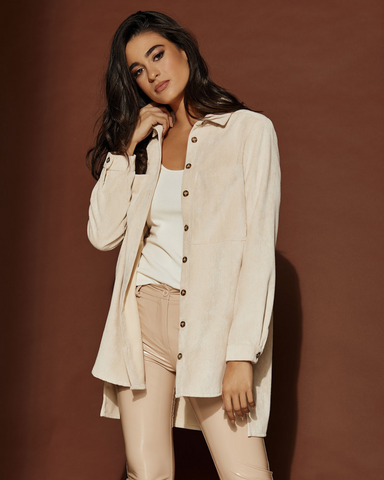 LILA Fashion | Corduroy Shirt Jacket