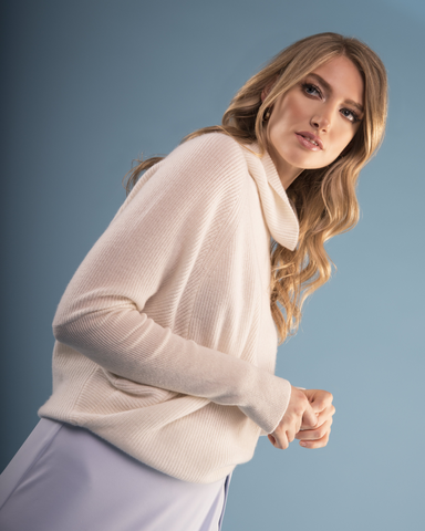 LILA Fashion | Cashmere Batwing Sweater | White