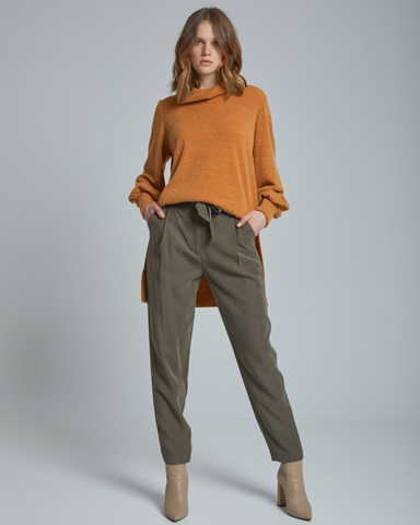 LILA Fashion | High-Waisted Tie Front Pants