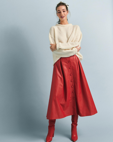 LILA Fashion | Hazel Skirt | Red