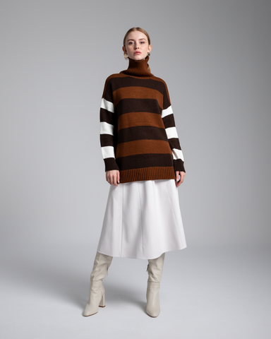 LILA Fashion | Striped Turtleneck Sweater