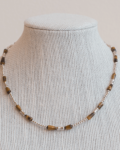 LILA Fashion | Tiger-Eye Necklace Trio