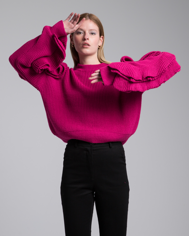 LILA Fashion | Statement Ruffle Sweater