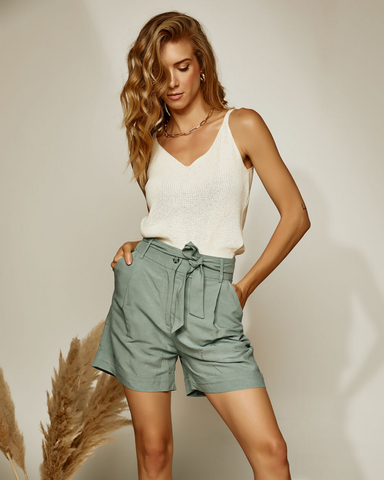LILA Fashion | Tie Waist Shorts