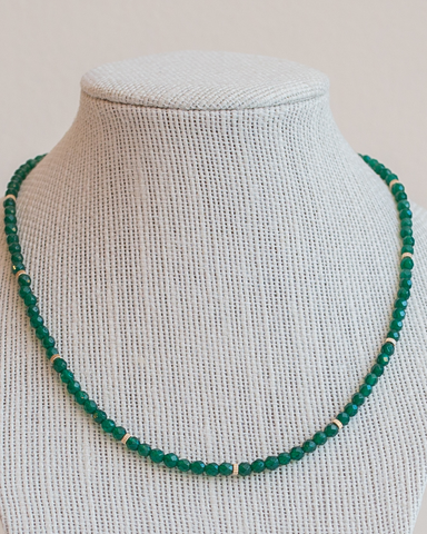 LILA Fashion | Empress Necklace | Green Agate