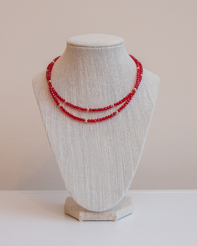 LILA Fashion | Empress Necklace | Red Crystal