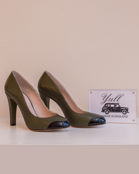 Mayfair Heel | Olive & Black