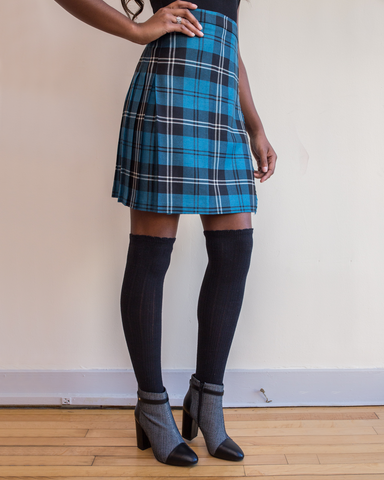 LILA Fashion | Ramsay Blue Modern Kilt