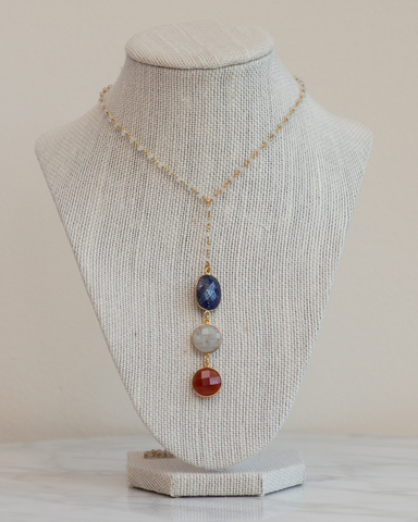 LILA Fashion | Carnelian Lotus Necklace