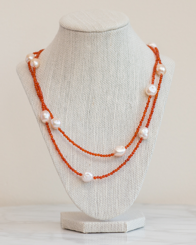 LILA Fashion | Carnelian Primrose Necklace