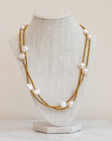 LILA Fashion | Gold Primrose Necklace