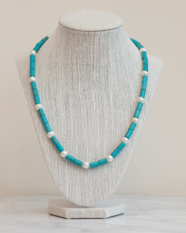 LILA Fashion | SS16 | Turquoise & Pearl Necklace