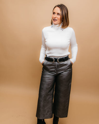 LILA Fashion | Gunmetal Culottes