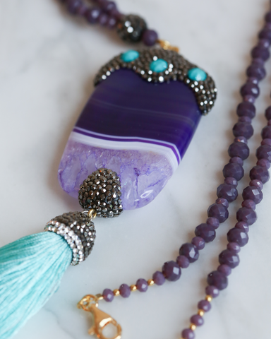LILA Fashion | Figi Agate Pendant Necklace